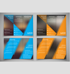 Brochure design with blurred background and color vector
