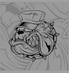 bulldog wearing hat vector image