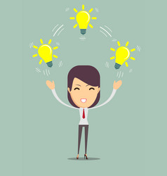 businesswoman showing she has an idea vector image