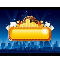 Casino background city vector image
