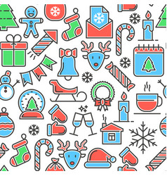 Christmas celebration seamless pattern vector