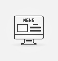 computer with news page concept icon in vector image