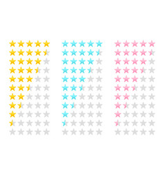 creative of star rating vote vector image
