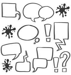 Doodle of bubble speech hand draw vector