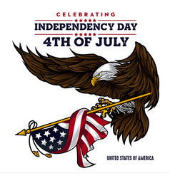 Eagle for usa happy independence day 4 th vector