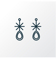 Earring icon line symbol premium quality isolated vector