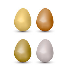 easter realistic eggs set vector image