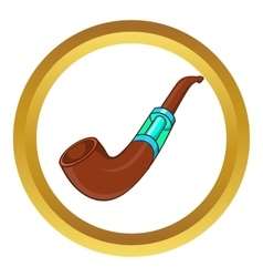 Electronic smoking pipe icon vector