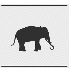 Elephant icon black color on transparent vector