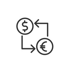 Exchange icon euro and dollar currency convert vector