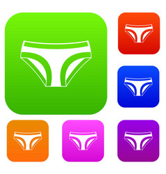 female underwear set color collection vector image