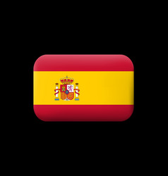 Flag of spain matted icon and button vector