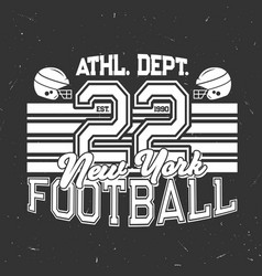 football sport club retro grunge poster vector image