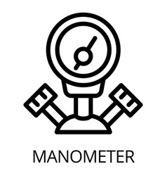 Gas welder manometer icon outline style vector