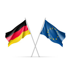 Germany and european union waving flags vector
