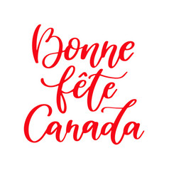 Happy canada day card in french bonne fete vector