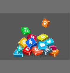 Icons of social networks vector