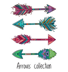 indian ethnic arrows vector image