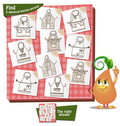 Kitchen aprons visual game vector