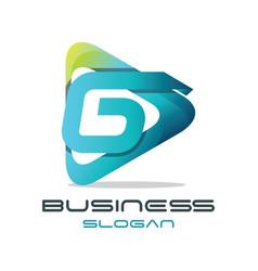 Letter g media logo vector