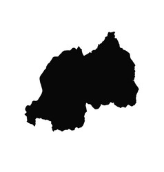map rwanda isolated black on vector image