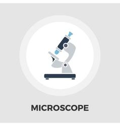 Microscope icon flat vector image