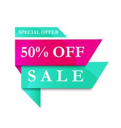 modern banner sale 50 off vector image