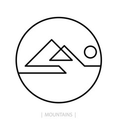 mountain logo template vector image