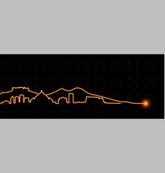 Naples light streak skyline vector