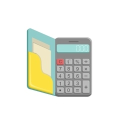 Old-School Calculator With Buttons vector