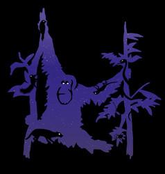 orang utan graphic for t-shirt design vector image