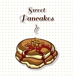 Pancakes with nuts vector
