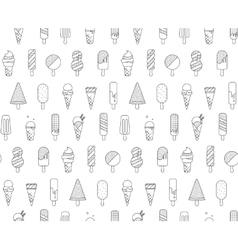 Pattern Memphis Ice Cream vector