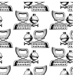 pattern with different clothes iron vector image