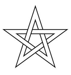 Pentagram sign - five-pointed star magical symbol vector