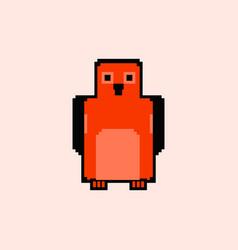 Pixel art penguin vector