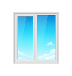 Plastic window frame in house glass vector