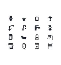 Plumbing icons Lyra series vector
