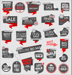 price tag modern gray collection 02 vector image