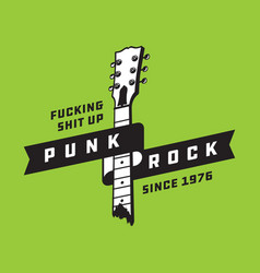 Punk rock badge or emblem design vector