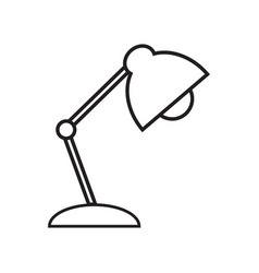 Reading-lamp line icon on white background vector