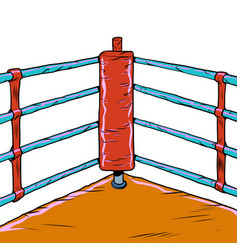 red corner boxing ring vector image