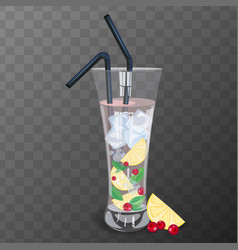 refreshing drink vector image