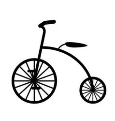 retro bicycle black silhouette vector image