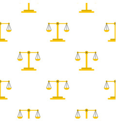 Scales of justice pattern flat vector