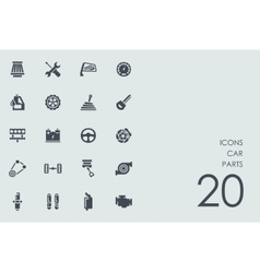 Set of car parts icons vector image