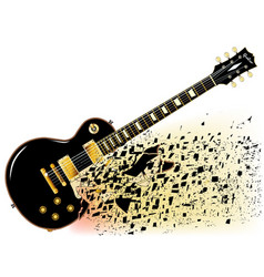 Shattering blues guitar vector