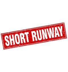 Short runway square stamp vector