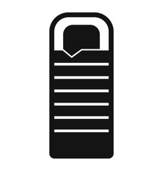 Sleeping bag icon simple style vector