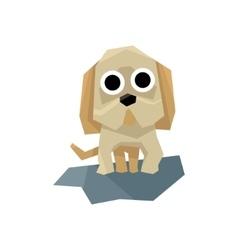 Small puppy bulldog vector